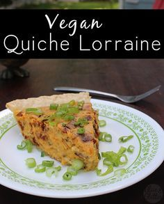 Vegan quiche Lorrain