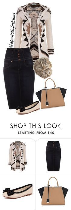 """Apostolic Fashions #966"" by apostolicfashions on Polyvore featuring maurices, Jane Norman, Human Premium and Fendi"