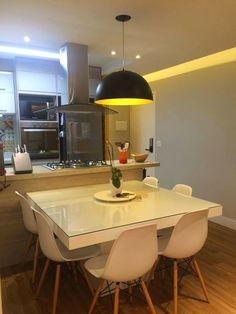 Arquitetura do Imóvel : Cozinha integrada à sala.