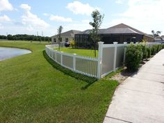 What a pretty fence! Picket and Privacy fence that is two toned in color with the ability of privacy as well as having a nice view! Check out our other work on our website: http://floridafenceandgates.com