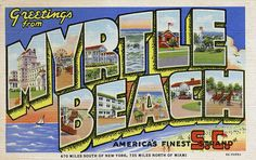 """Greetings from Myrtle Beach, South Carolina, """"America's Finest Strand"""" - Large Letter Postcard by Shook Photos, via Flickr"""
