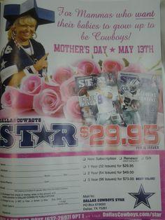 Thanks, Cowboys Star Mag! You made my Mother's Day!  subscribe at: dallascowboys.com/Star