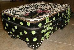 Pinterest Suitcase Pet Bed | Suitcase Pet Bed | Stuff that makes you go...ooooooooh | Pinterest