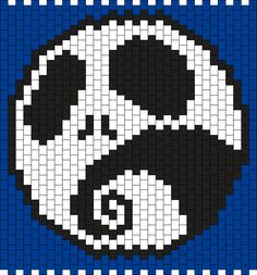 Jack / The Nightmare Before Christmas Bead Pattern
