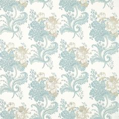 Laura Ashley Rose Hill Duck Egg Blue Floral Wallpaper ($39) ❤ liked on Polyvore featuring backgrounds, patterns, wallpaper and icon