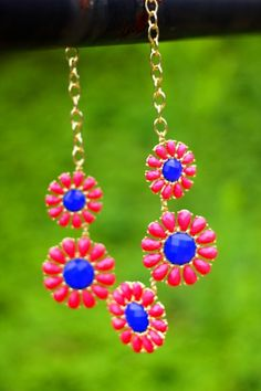 Wildflower Wishes Necklace-Coral