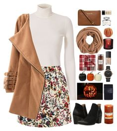 October Fest by surferblood on Polyvore featuring A.L.C., Zara, Freebird, Michael Kors, Skagen, J.Crew, NARS Cosmetics, MAKE UP FOR EVER, Gucci and JCPenney Home