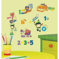Team Umizoomi Wall Decal  Milli, Geo, Robot Bot Sticker