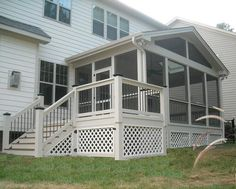 The general idea of our soon-to-be deck/screened porch. The general idea of our soon-to-be deck Porch And Balcony, Patio Gazebo, Screened In Porch, Back Patio, Enclosed Porches, Decks And Porches, Outdoor Spaces, Outdoor Living, Small Sunroom