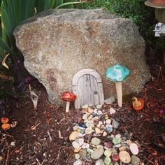 In my yard I don't have to look too hard to find a rock, and with the addition of a little door made from paddlepop sticks or twigs from the yard, this could get put together in no time. We've got lots of other ideas for kids on our main site at http://theownerbuildernetwork.co/ideas-for-kids/ What else would you add to this fairy house?