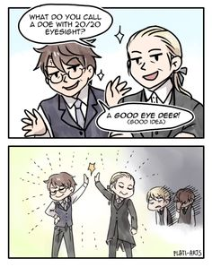I came here for the Scorbus ;) — plati-arts: applepie3399: Harry and Draco...