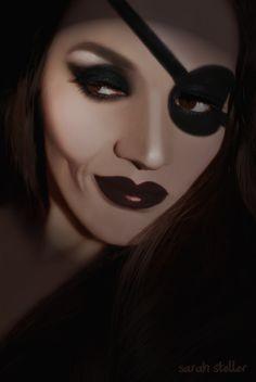 Pirate Makeup by Sarah Steller   #beautylish @Beautylish