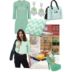 A fashion look from December 2014 featuring Oscar de la Renta dresses, Missguided sweaters and Shoe Republic LA pumps. Browse and shop related looks.