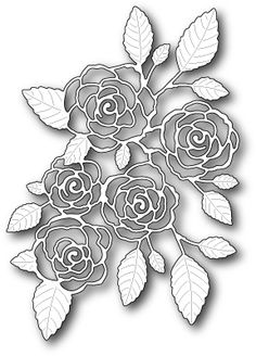 Memory Box English Rose Bouquet Die 99139 - 123Stitch.com