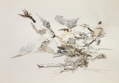 Julie Mehretu American, born Ethiopia, 1970 Untitled, 2006 Ink and watercolor 29 x 40 in. (71.1 x 101.6 cm)