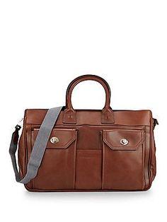 Brunello Cucinelli Leather Briefcase - Brown - Size No Size