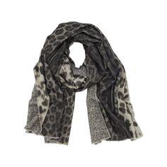 Mulberry Gift Kaleidoscope | Grey - Reversible Printed Wrap in Grey Marl Leopard & Herringbone Print