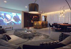 Sala de tv e jogos