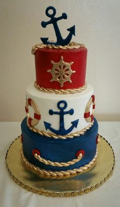 Cake Nautischer Kuchen The Biology Behind Hair Growth Nothing in life is as simple as it seems, so i Nautical Birthday Cakes, Nautical Cake, Nautical Baby Shower Cakes, Nautical Party, Sailor Cake, Sailor Birthday, Boat Cake, Sea Cakes, Pink Cakes