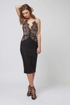 4d33586d61   Contrast Scallop Lace Midi Dress by Rare - Topshop Lace Midi Dress