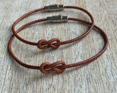 Couple Bracelets, Stainless Steel Magnetic clasps, Brown Leather, His and her Bracelet, Minimalist Matching Bracelets Bracelet Couple, Matching Couple Bracelets, Couple Jewelry, Simple Bracelets, Braided Bracelets, Link Bracelets, Bracelets For Men, Black Leather Bracelet, Leather Jewelry