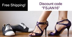 "Free Shipping everywhere for a week!!! Do not miss this fantastic opportunity to buy your favourite tango shoes made in Italy! Insert the discount code ""FSJAN16"" during a purchase to get the free shipping! www.italiantangoshoes.com"