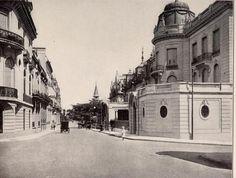 Av Alvear y Montevideo,a la derecha el edificio de la actual Nunciatura