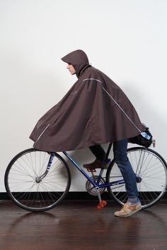 Cleverhood, $240. It's a technical poncho-meets-cape. 3M Scotchlite strips. So it never rains here. I still kinda want one.