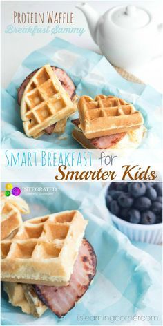 Smart Breakfast for Kids: Protein Waffle Breakfast Sammy for Smarter Kids | ilslearningcorner.com #breakfastforkids #kidsbreakfastrecipes: Smart Breakfast for Kids: Protein Waffle Breakfast Sammy for Smarter Kids | ilslearningcorner.com #breakfastforkids #kidsbreakfastrecipes