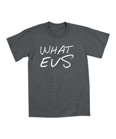 This Heather Charcoal 'What Evs' Tee - Toddler & Kids by LC Trendz is perfect! #zulilyfinds