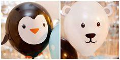 Ours polaires et pingouins. 16 décorations de rêve à faire avec des ballons gonflables