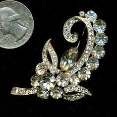 Vintage Eisenberg Ice Rhinestone Pin by shadypast on Etsy, $74.50