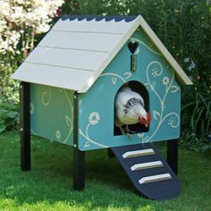 been talking about getting some chickens out where we live. This would be cute, but probably too small...