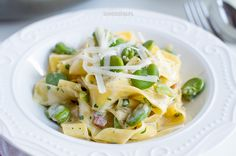 Broad bean carbonara