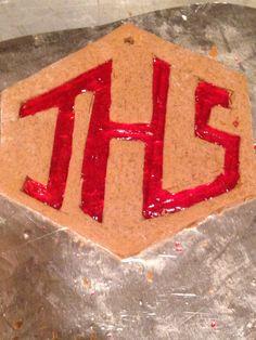 My school's logo in gingerbread