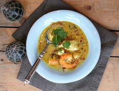 Indisk kokoscurry med sjømat
