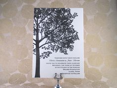 Shade Tree Wedding Invitation Suite by Inviting Letterpress Boutique My favorite!