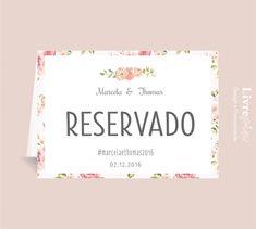 Placa Mesa Reservada - Rosa e Pessego