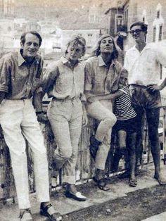 George, Shane, Charmian Clift, Jason, and Martin Johnston, Greece, 1964
