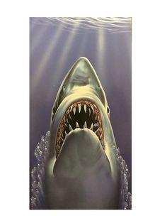 """30/""""x60/"""" Shark /""""Bite Me/"""" Beach Towel"""
