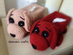 Crochet tissue dog