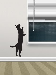 Black Cat On A Ledge Vinyl Wall Decal By WilsonGraphics On Etsy - Custom vinyl wall decals cats