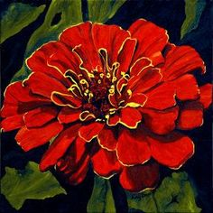 paintings of zinnia flowers - Yahoo Image Search Results