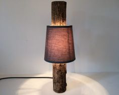 Amazing Simple Log Lamp with Shade