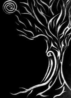 tribal tree swirls// soften this up and maybe add some color, this would be perfect for me!
