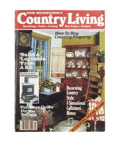 Our Fall 1979 cover featured a rustic china cabinet.