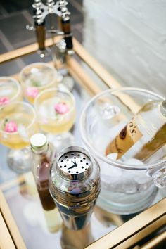 Styling your Bar Cart for a Summer Party | Fashionable Hostess