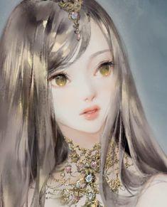New Illustration Art Girl Painting Artworks 56 Ideas Pretty Anime Girl, Beautiful Anime Girl, Manga Girl, Anime Art Girl, 5 Anime, Painting Of Girl, Painting Art, Digital Art Girl, Fantasy Girl