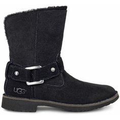 UGG Cedric ($195) ❤ liked on Polyvore featuring shoes, boots, sheepskin shoes, ugg, cuff boots, ugg shoes and sheeps boots