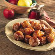 Apple Fritters with Spiced Syrup One day when I am master chef... I will try this. It seems kinda hard for me right now.